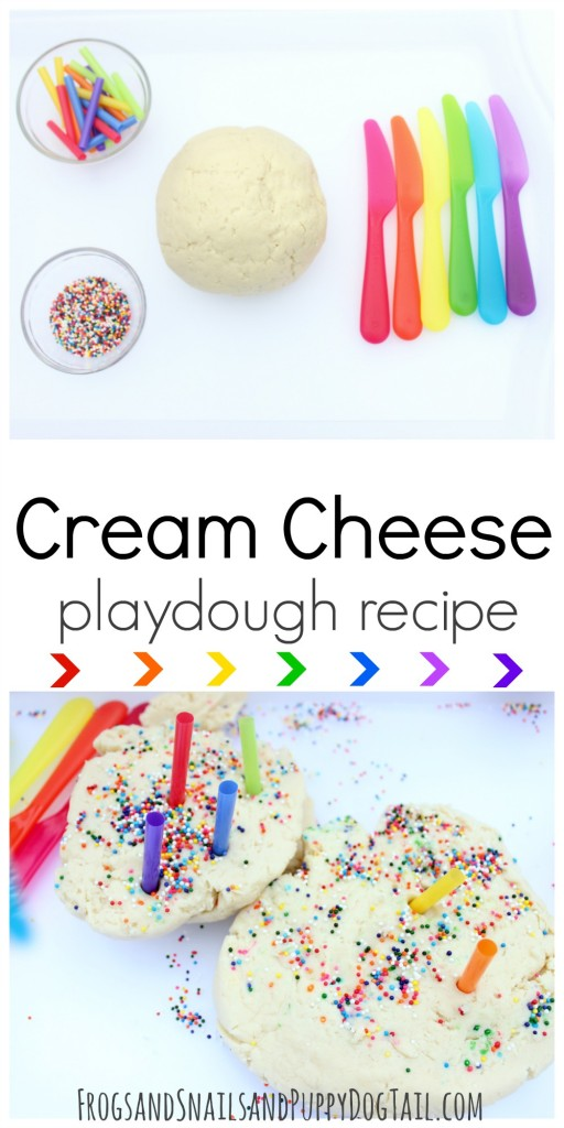cream cheese playdough recipe for sensory play