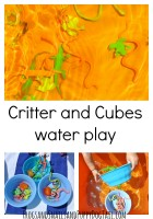 Critter and cube water play