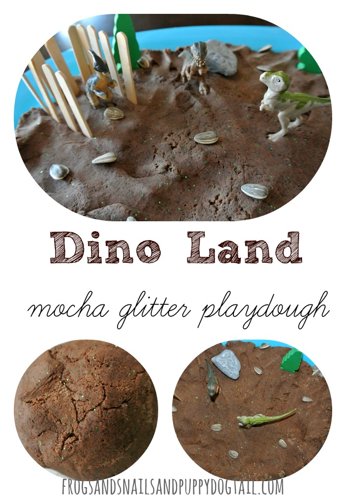dino-land-with-glitter-mocha-playdough