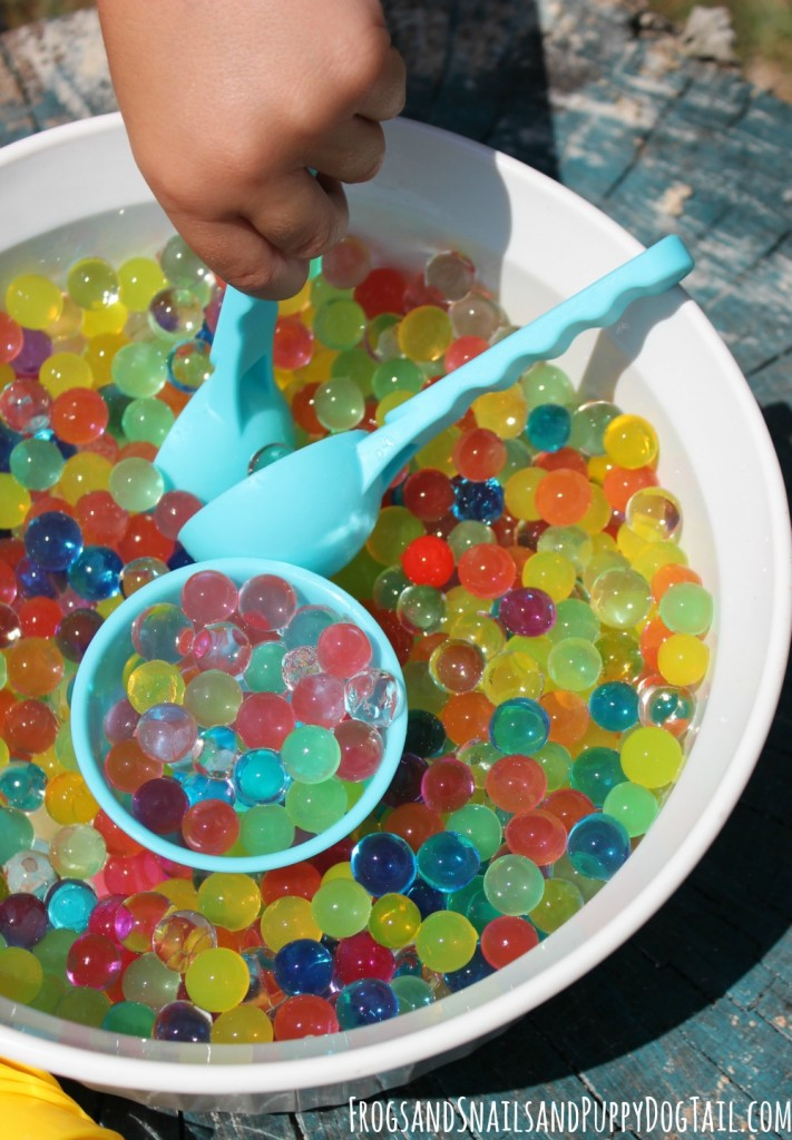 dippin dots water beads sensory play activity idea for kids