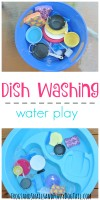 dish washing water play for kids