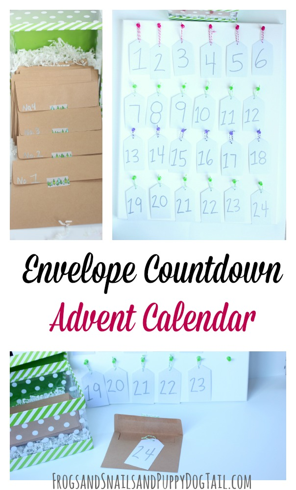 easy envelope countdown advent calendar