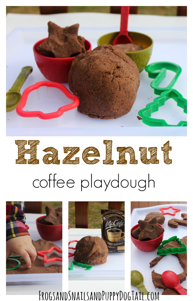 easy hazelnut coffee playdough recipe