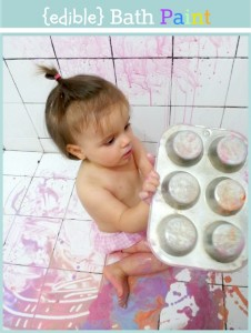 edible bath paint for babies and toddlers