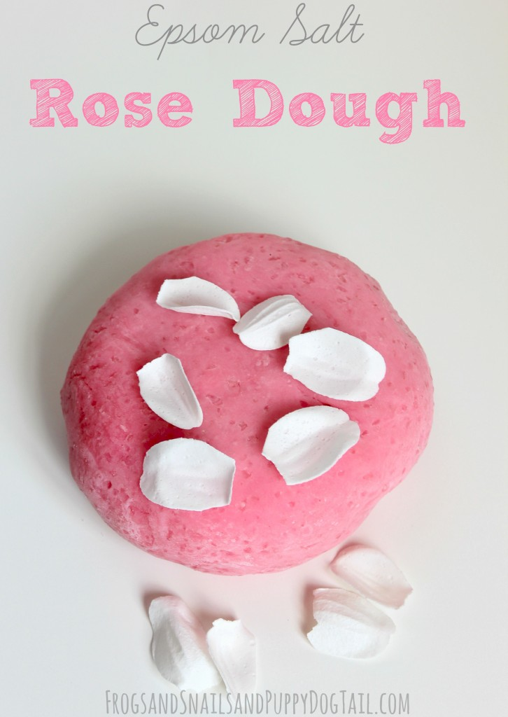 Epsom Salt Rose Dough