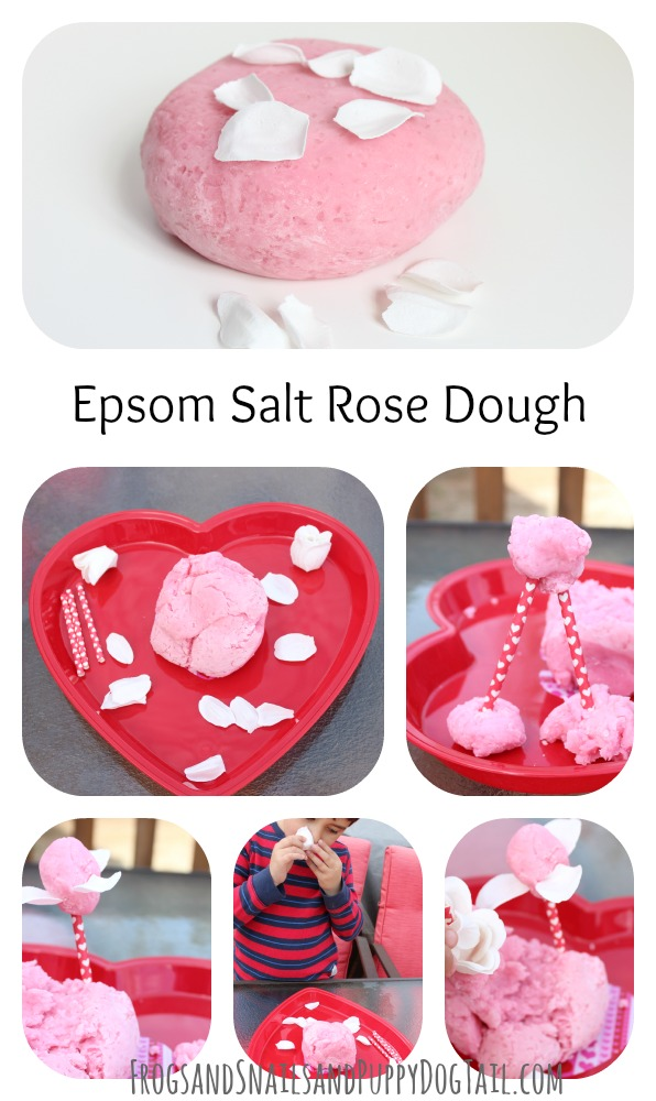 epsom salt rose dough play recipe