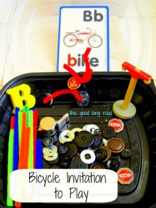 The Good Long Road: {Ten for Tuesday} Things That Go Series -- Bikes! - 10+ Ways to Play (and Learn) with Bicycles.