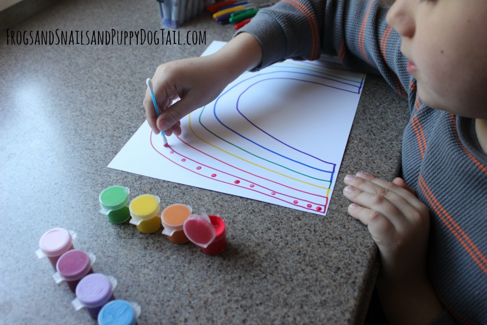 fine motor rainbow craft for kids