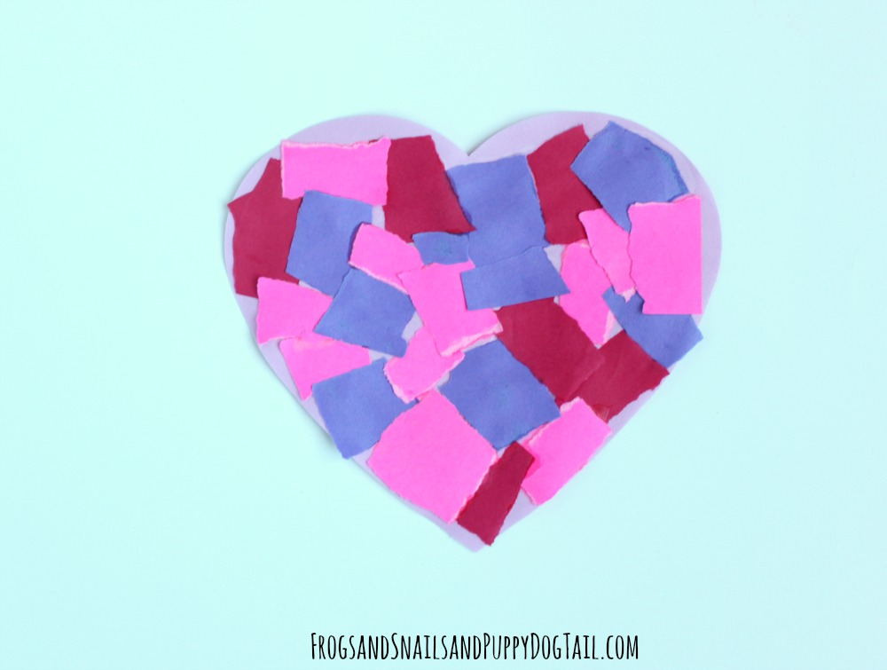 fine motor skill heart craft for kids