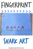 fingerprint shark art for kids