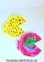 fish paper plate craft for kids