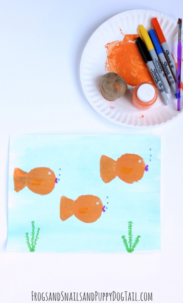 fish print craft for kids
