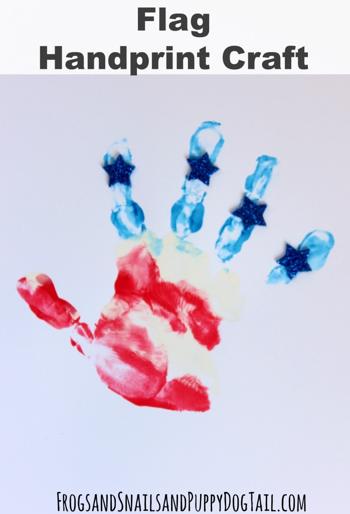 Flag handprint craft for 4th of July