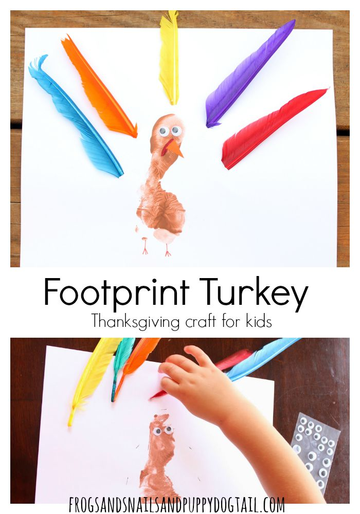footprint turkey thanksgiving craft for kids