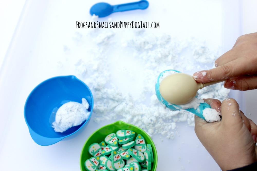 frozen dough sensory play activity idea for kids