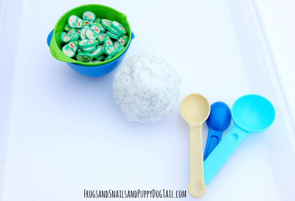 frozen playdough tray