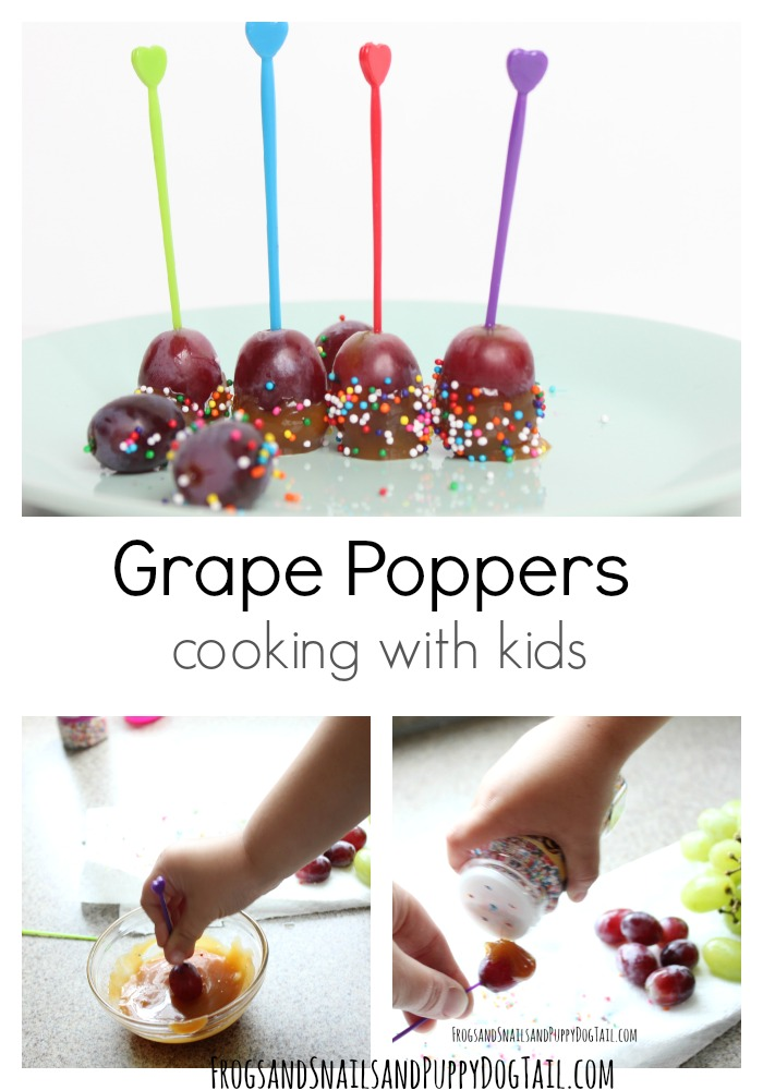 grape popper cooking with kids