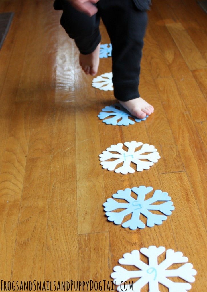 gross motor snowflake activity for kids