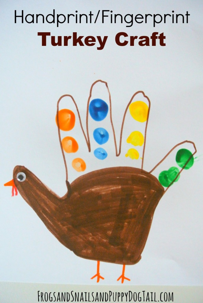 handprint fingerprint turkey craft for kids