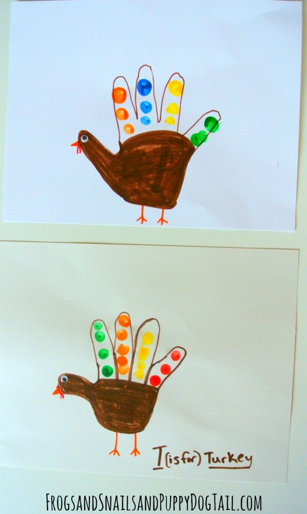 handprint turkey craft for kids