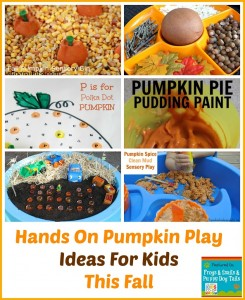 Hands On Pumpkin Play Ideas For Kids This Fall {featured from the kids co-op}