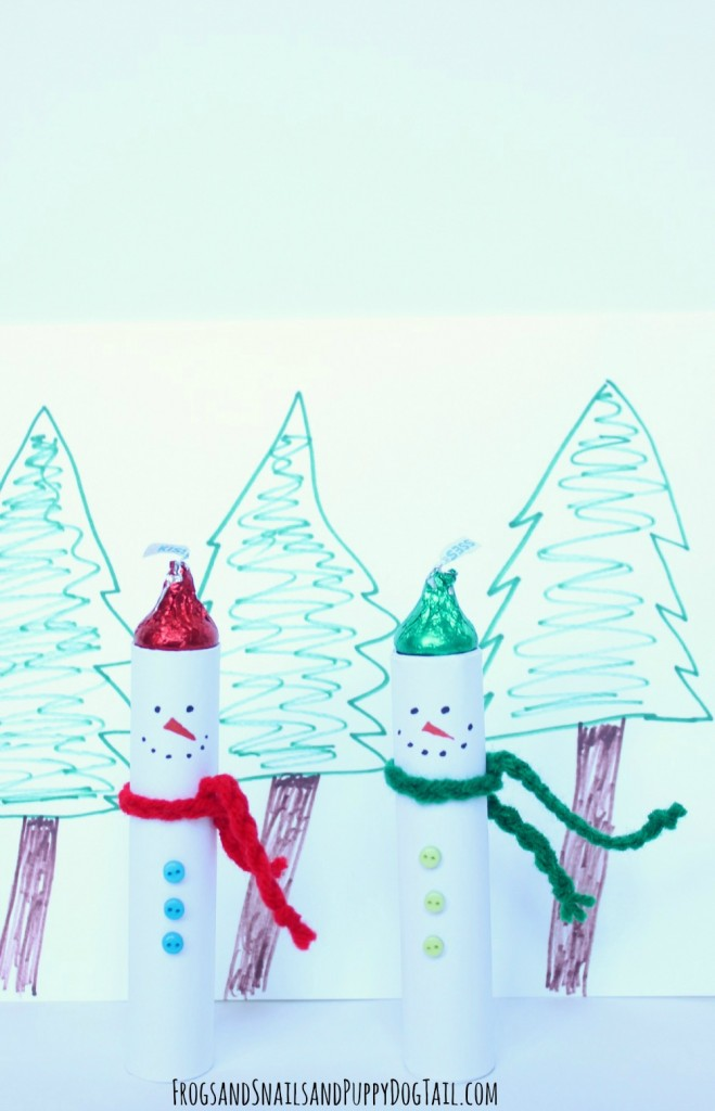 Hershey kisses snowman craft and gift