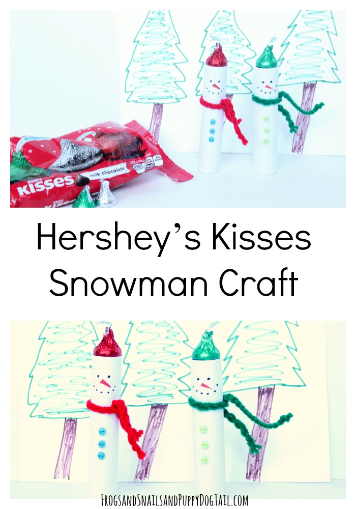 Hershey's kisses snowman craft for the family