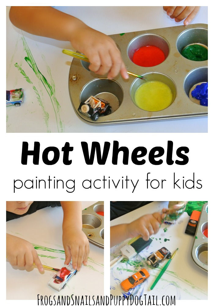 Hot wheels painting activity for kids