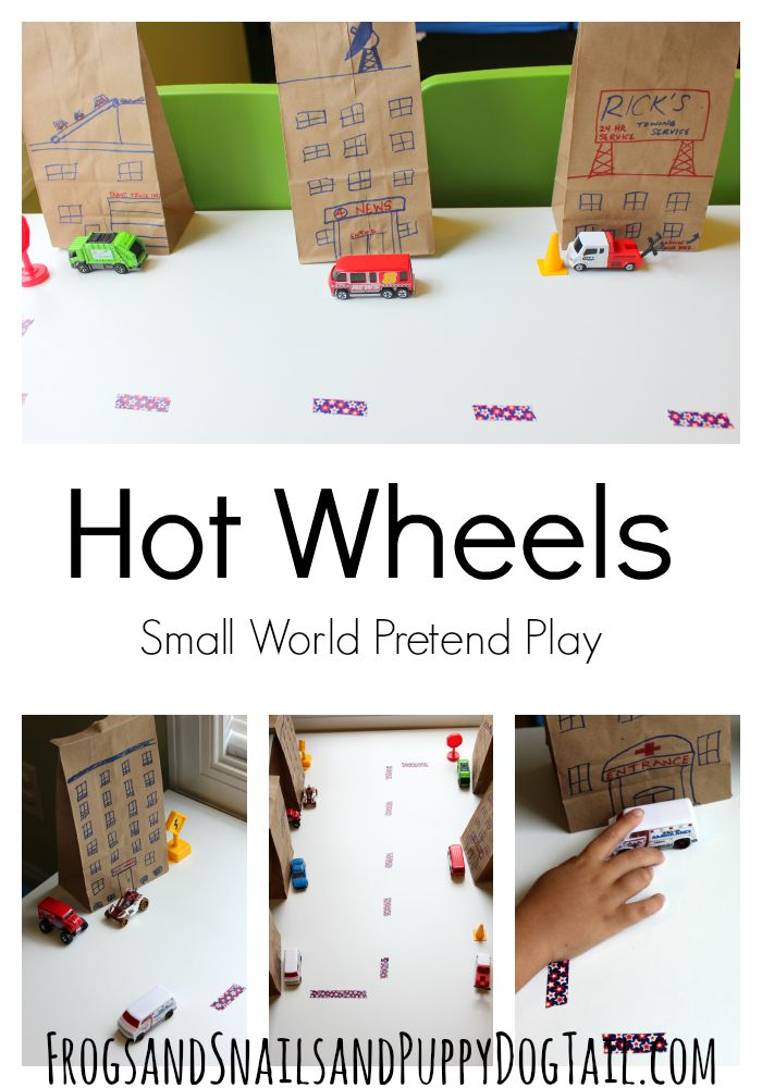 hot wheels small world play idea for kids