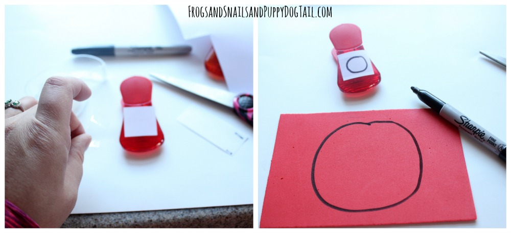 how to make a color and shape match up game for kids