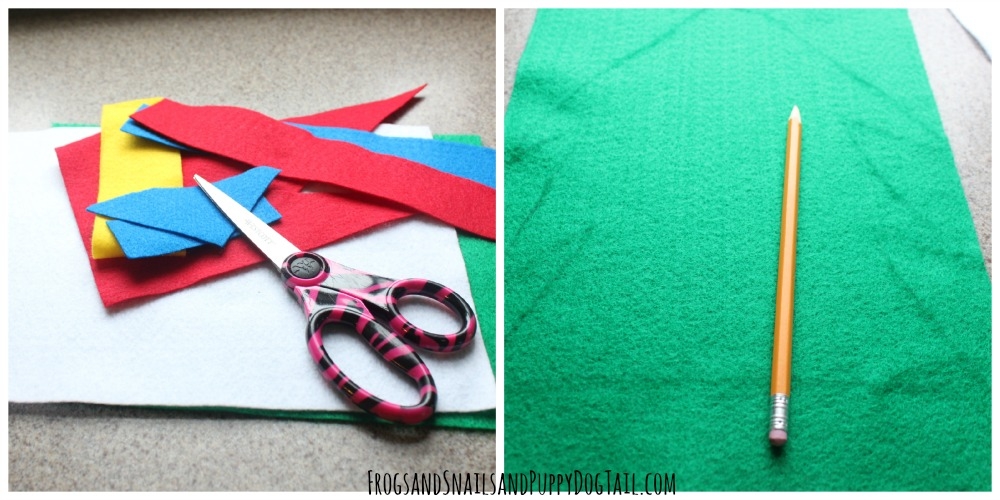 how to make a felt christmas tree number match up busy activity for kids