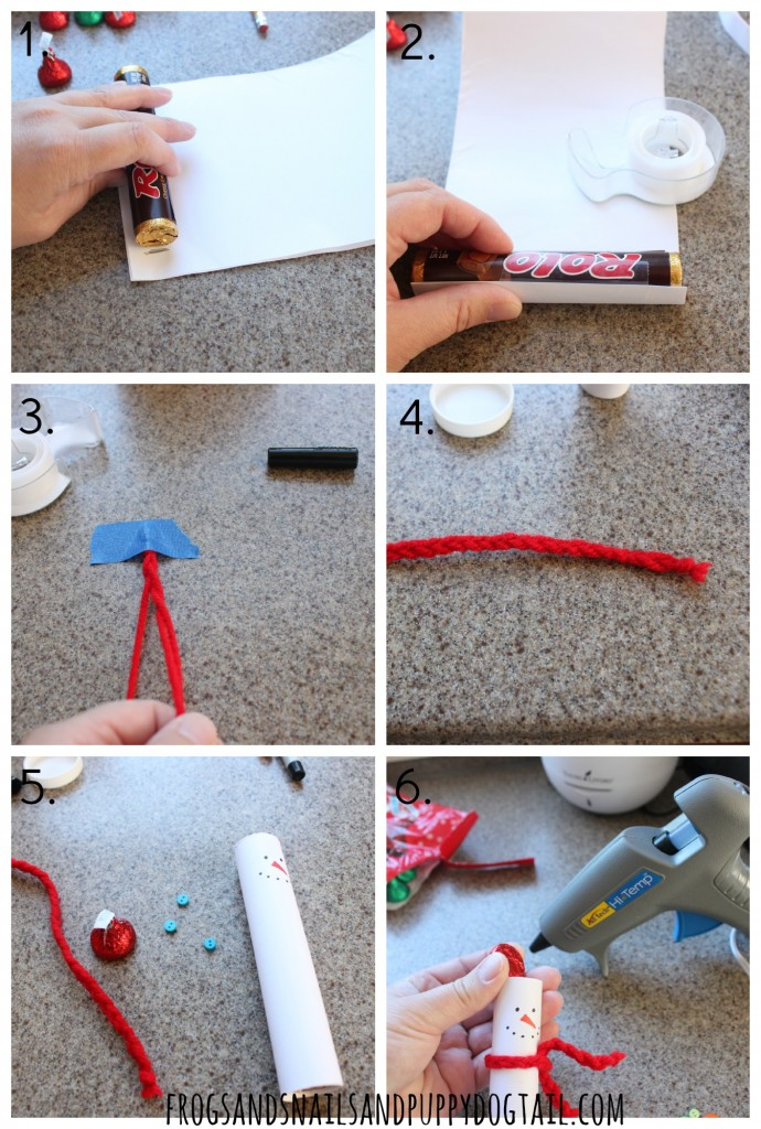 how to make a Hershey's Kisses Snowman Craft '