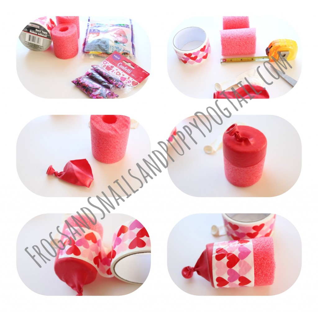 how to make a pool noodle confetti popper