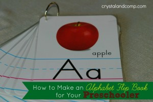 how to make an alphabet flip book for your preschooler