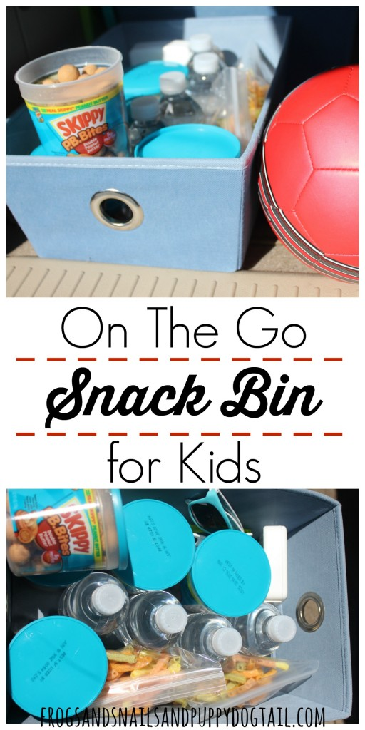 how to make an on the go snack bin for kids