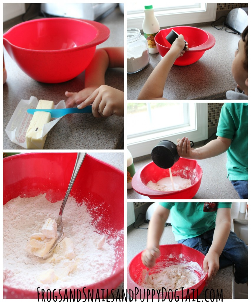 how to make drop biscuits with kids