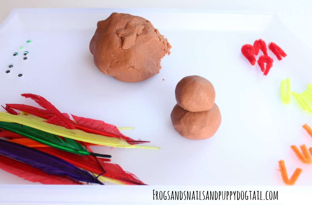 how to make playdough turkeys
