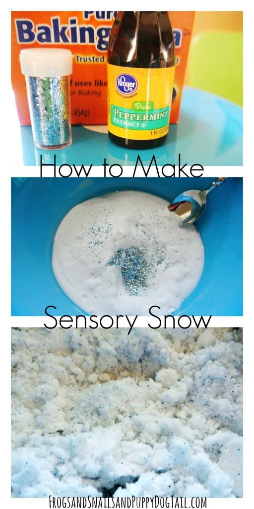 how to make sensory snow sensory play idea for kids