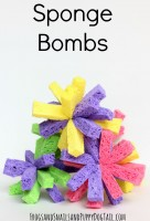 how to make sponge bombs for water play