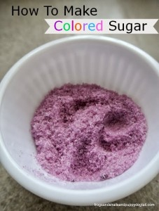 How To Make Colored Sugar by FSPDT
