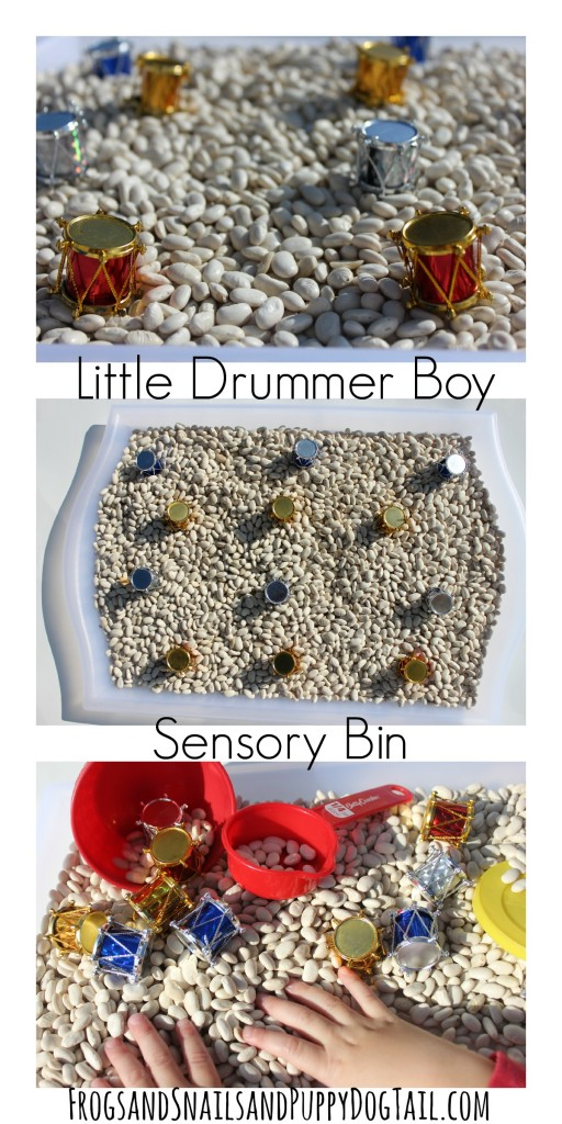 little drummer boy sensory play idea for kids