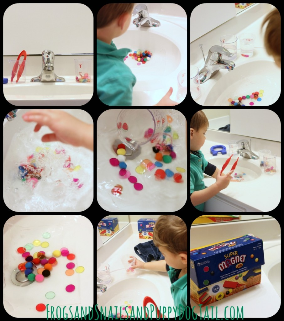 magnet sink play and learning for kids