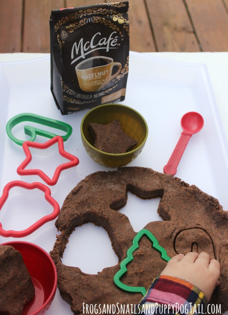 McCafe Hazelnut Playdough recipe for sensory play