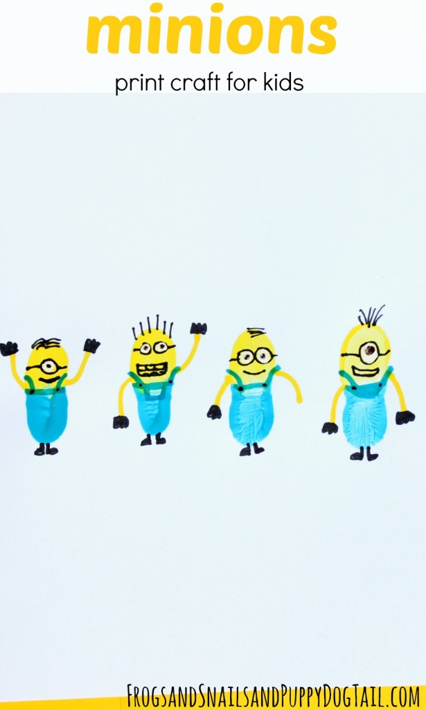 minions print craft for kids