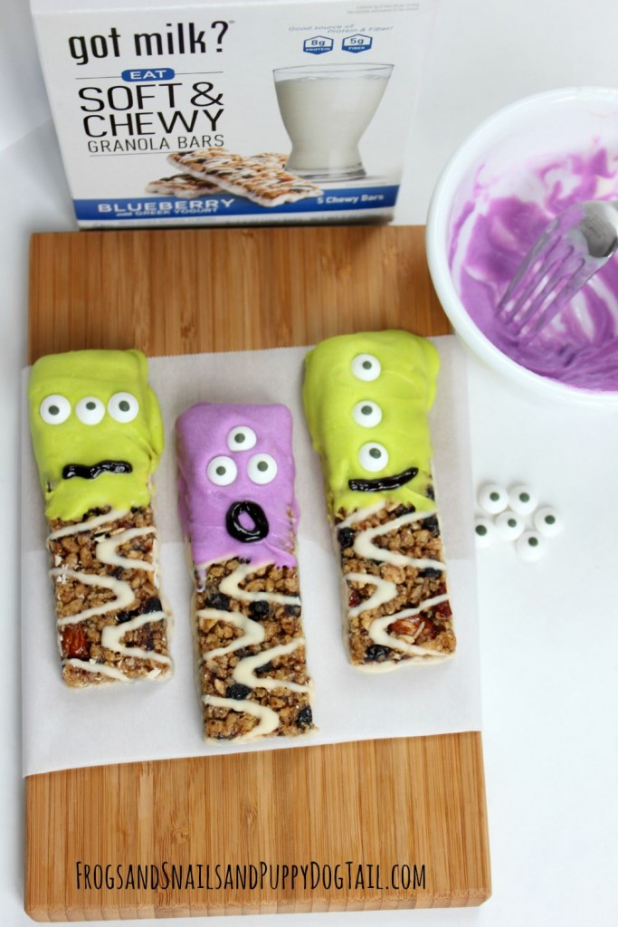 Monster Granola Bars fun kid snack or Halloween Party Food