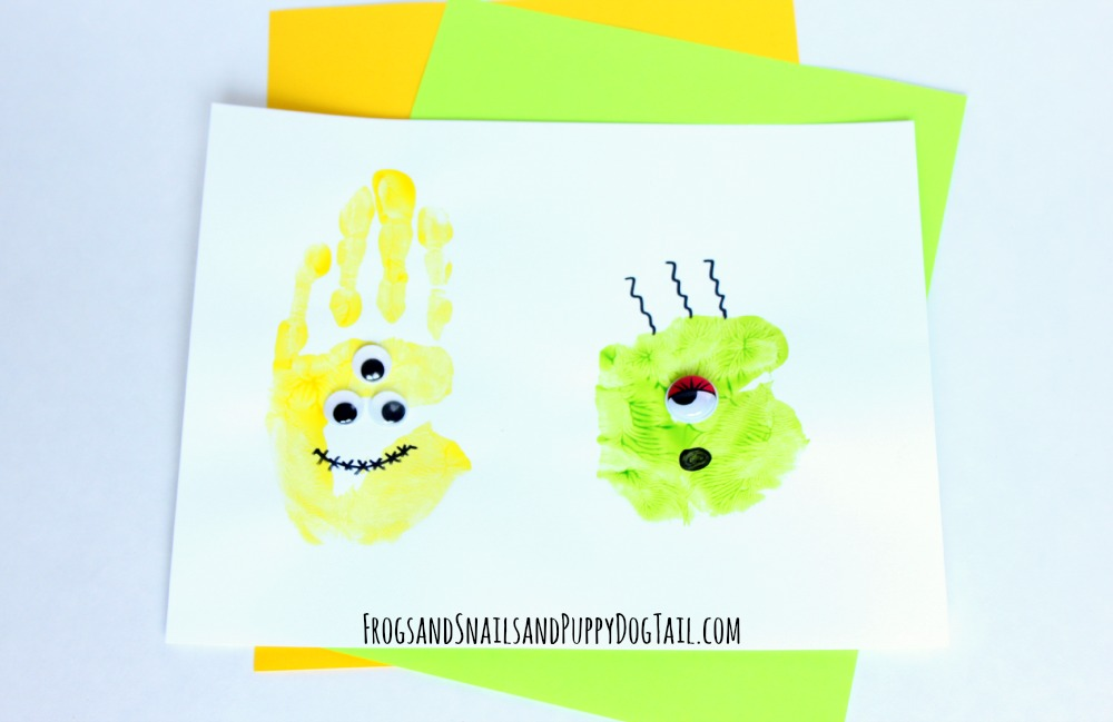 monster handprint Halloween craft
