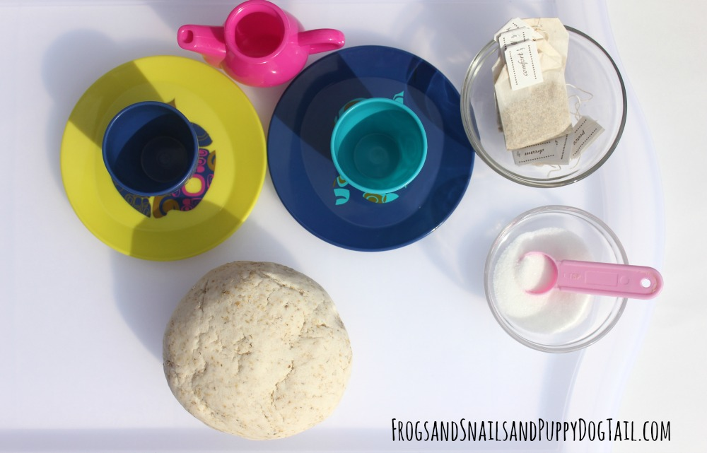 natural playdough tray