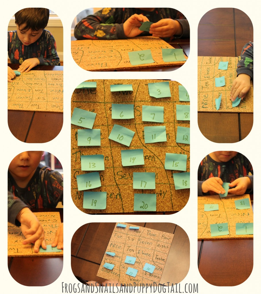 number learning activity for kids