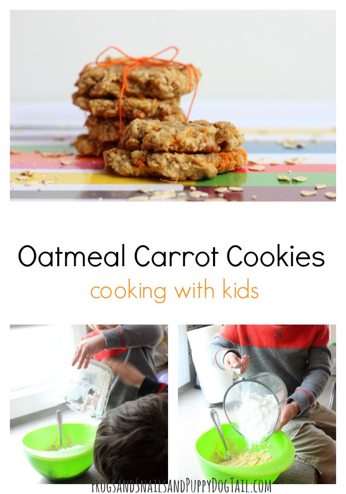 OAtmeal caroot cookies cooking with kids
