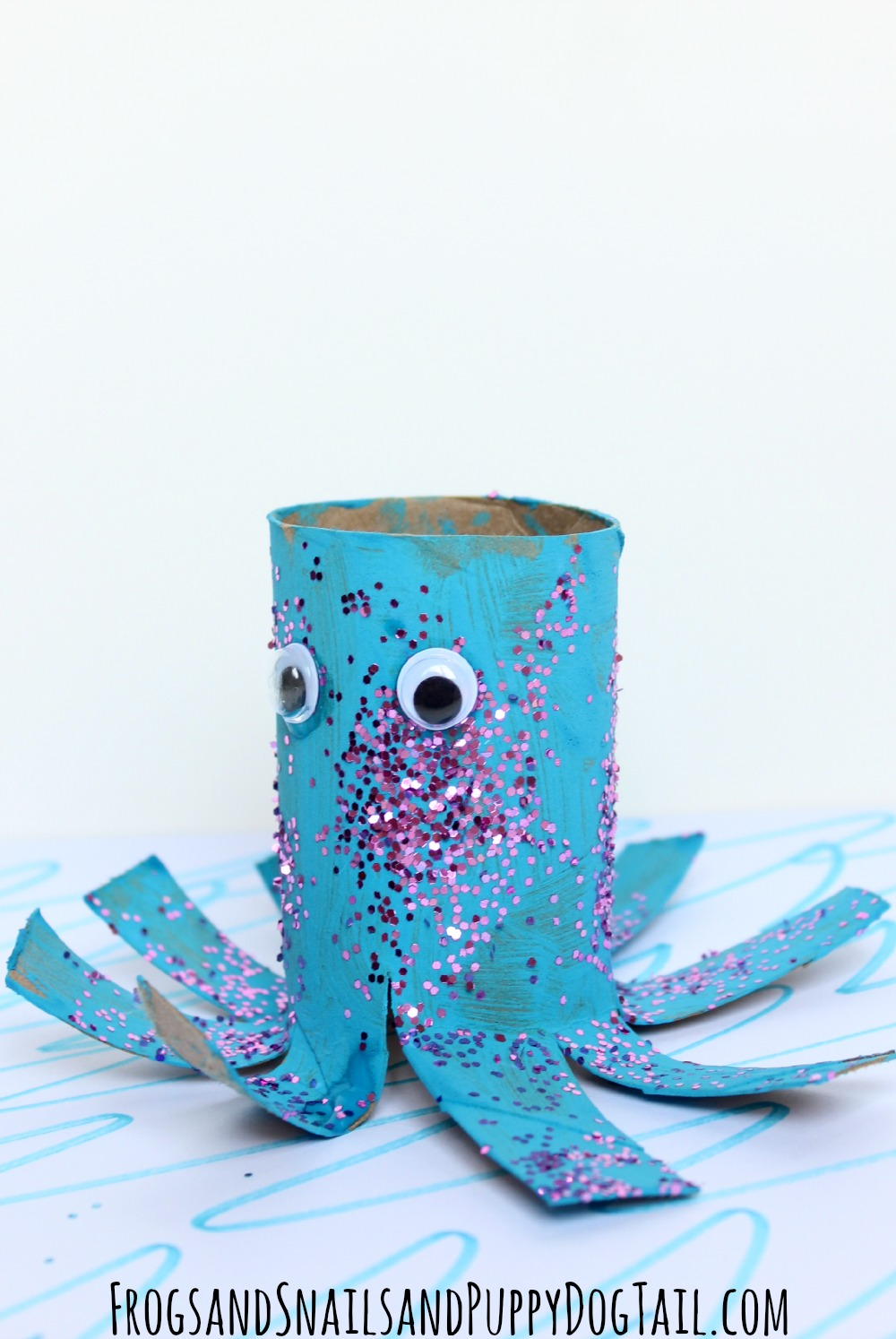 Octopus toilet paper roll craft fspdt for Crafts that use toilet paper rolls